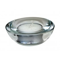 Berties Glass Tealight Holder 75mm Dia