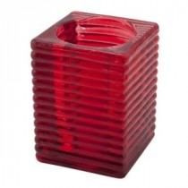 Genware Highlight Candle Holder Red