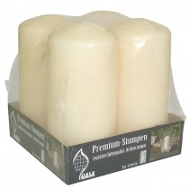 Berties Pillar Candle White 70x150mm