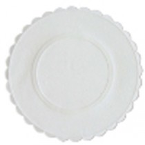 Berties White Embossed Paper Coasters