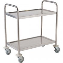 Berties Stainless Steel Clearing Trolley 2 Tier 86x53x93cm