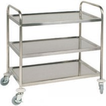 Berties Stainless Steel Clearing Trolley 3 Tier 86x53x93cm