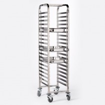 Berties Stainless Steel GN 1/1 Trolley 20 Shelves