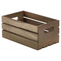 Genware Wooden Crate Dark Rustic 27x16x12cm