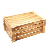 Genware Wooden Crate Rustic 34x23x15cm