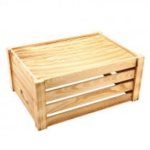 Genware Wooden Crate Rustic 41x30x18cm