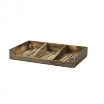 Genware Wooden Display Crate Rustic 53x32x8cm
