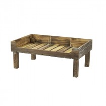 Genware Wooden Display Crate Stand Rustic 53x32x21cm