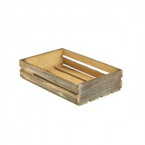 Genware Wooden Crate Dark Rustic 35x23x8cm