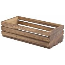 {Genware Wooden Crate Dark Rustic 25x12x7.5cm}