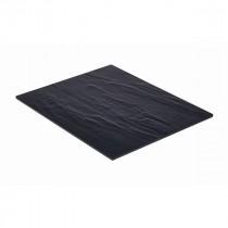 Genware Slate Effect Melamine Platter Black GN 1/2