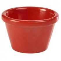 Genware Melamine Smooth Ramekin Red 4.3cl-1.5oz