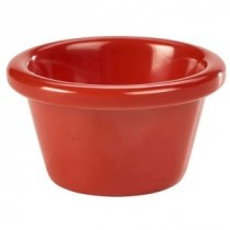 Genware Melamine Smooth Ramekin Red 5.9cl-2oz