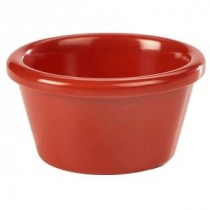 Genware Melamine Smooth Ramekin Red 8.5cl-3oz