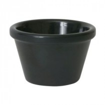 Genware Black Melamine Ramekin Smooth 4.3cl-1.5oz