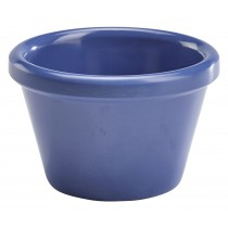Genware Melamine Smooth Ramekin Blue 4cl/1.5oz
