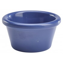 Genware Melamine Smooth Ramekin Blue 5.5cl/2oz