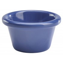 Genware Melamine Smooth Ramekin Blue 8.5cl/3oz