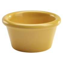 Genware Melamine Smooth Ramekin Yellow 5.5cl/2oz