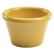 Genware Melamine Smooth Ramekin Yellow 8.5cl/3oz