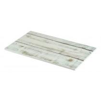 Genware Wood Effect Melamine Platter White Wash GN 1/4