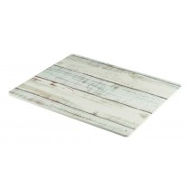 Genware Wood Effect Melamine Platter White Wash GN 1/2