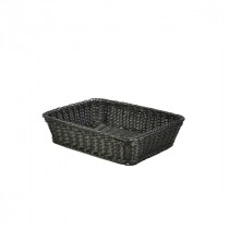 Genware Polywicker Display Basket Black 36.5x29x9cm