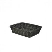 Genware Polywicker Display Basket Black 36.5x29x9cm