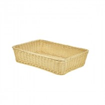 Genware Polywicker Display Basket Natural 46x31x10cm
