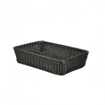 Genware Polywicker Display Basket Black 46x31x10cm