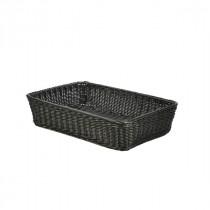 Genware Polywicker Display Basket Black 46x31x10cm