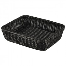 Genware Polywicker Display Basket Black GN 1/2