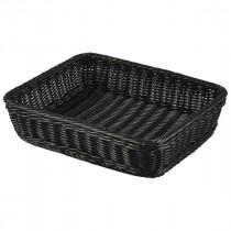 Genware Polywicker Display Basket Black GN 1/2