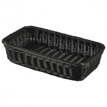 Genware Polywicker Display Basket Black GN 1/3