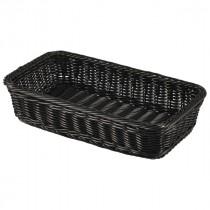 Genware Polywicker Display Basket Black GN 1/3