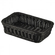 Genware Polywicker Display Basket Black GN 1/4