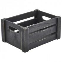 Genware Wooden Crate Black 22.8x16.5x11cm