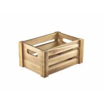 Genware Rustic Wood Crate 22.8x16.5x11cm