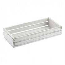 Genware Wooden Crate White Wash 25x12x5cm