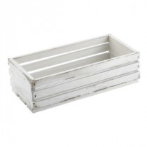 Genware Wooden Crate White Wash 25x12x7.5cm
