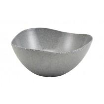 Genware Melamine Triangular Buffet Bowl Granite Grey 28cm 3.6 Litre