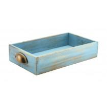 Genware Acacia Wood Display Drawer Blue Wash GN 1/3 7cm