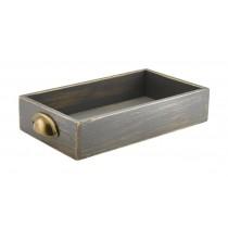 Genware Acacia Wood Display Drawer Grey Wash GN 1/3 7cm