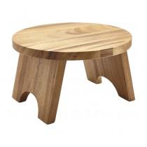 "Genware Acacia Wood Round Buffet Riser 30cm-12"""