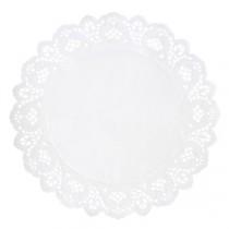 Berties White Round Doyley 14cm