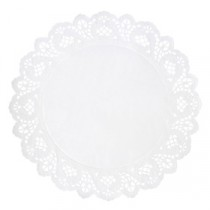 Berties White Round Doyley 24cm