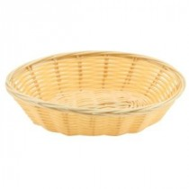 Genware Polywicker Oval Basket 175mm