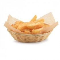 Genware Polywicker Oval Basket 225mm