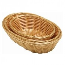 Genware Polywicker Oval Basket 250mm