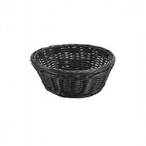 """Genware Polywicker Round Basket Black 8.25""""/21 Diameter"""
